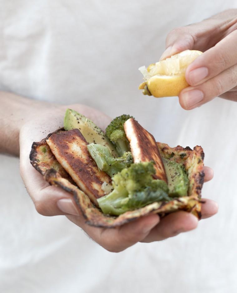 Grüne Zucchini Wraps {flowers on my plate}